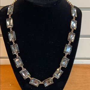 Gray Crystal Necklace